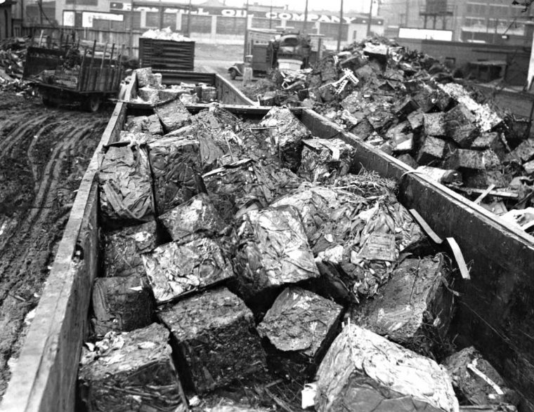 Philly Junk Yard 1930s Cars Scraped And Crushed Into