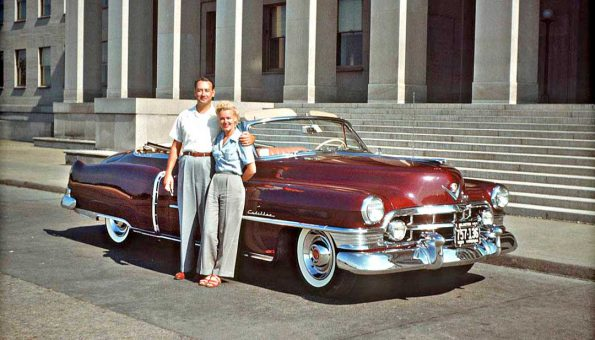 Number One Hundred And Eight Of The Kodachrome Image Series Begins This Week With A Couple From Virginia Posing An Early 1950s Cadillac Convertible