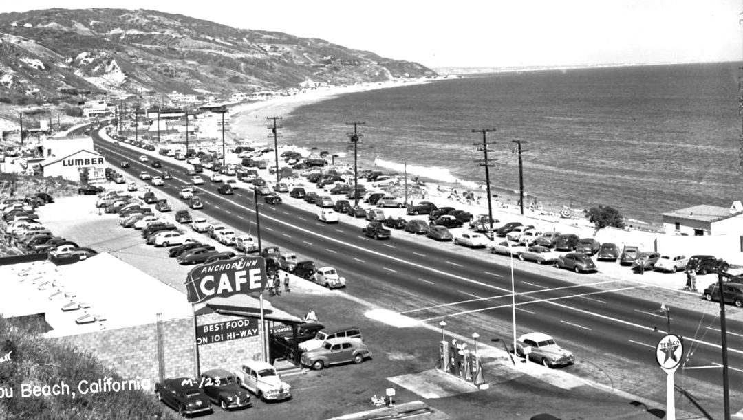 fed94a056a0c The Pacific Coast Highway: Surf Rider Beach Malibu, California   The Old  Motor