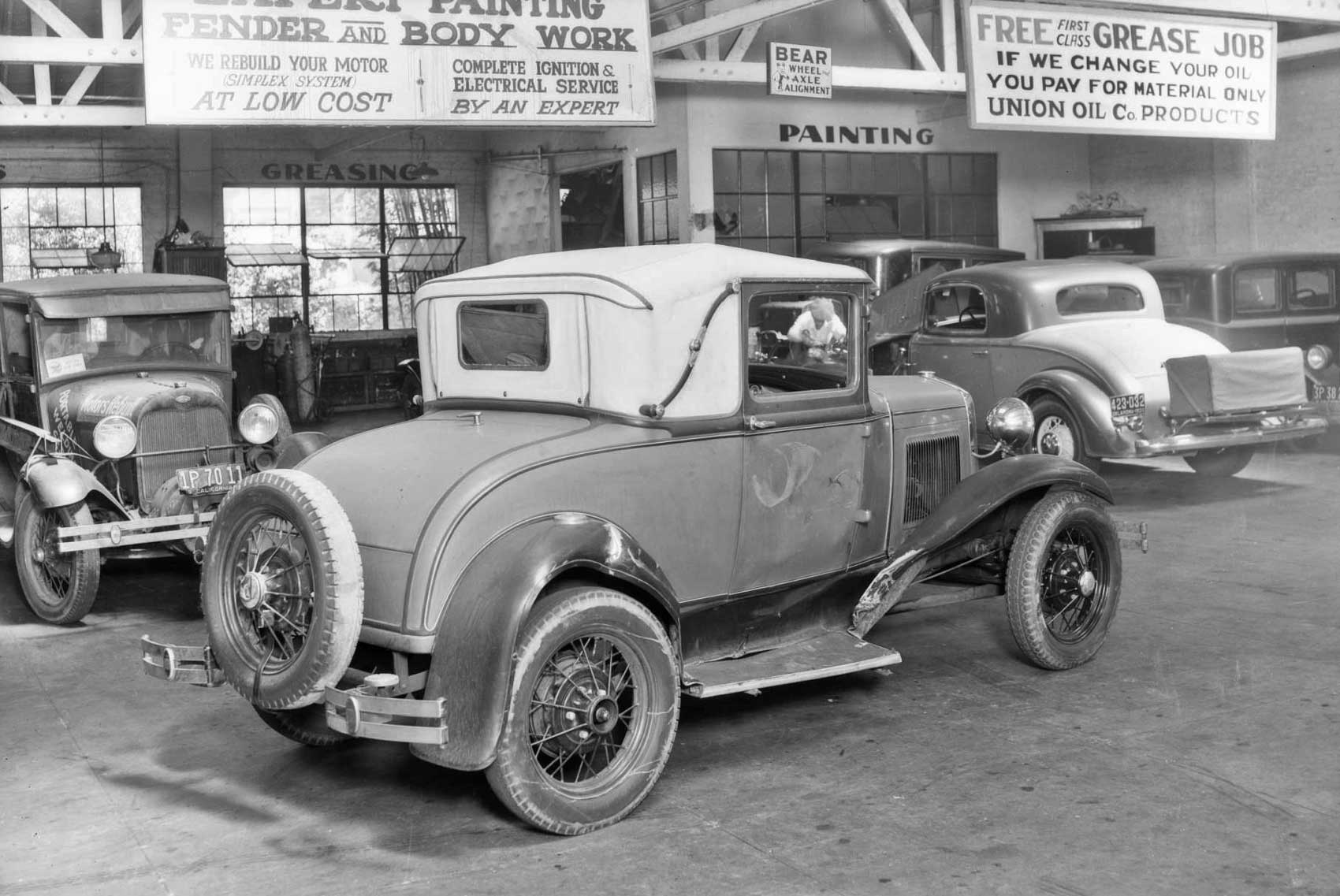 """In the Garage: Damaged Model """"A"""" Ford Sport Coupe   The Old Motor"""