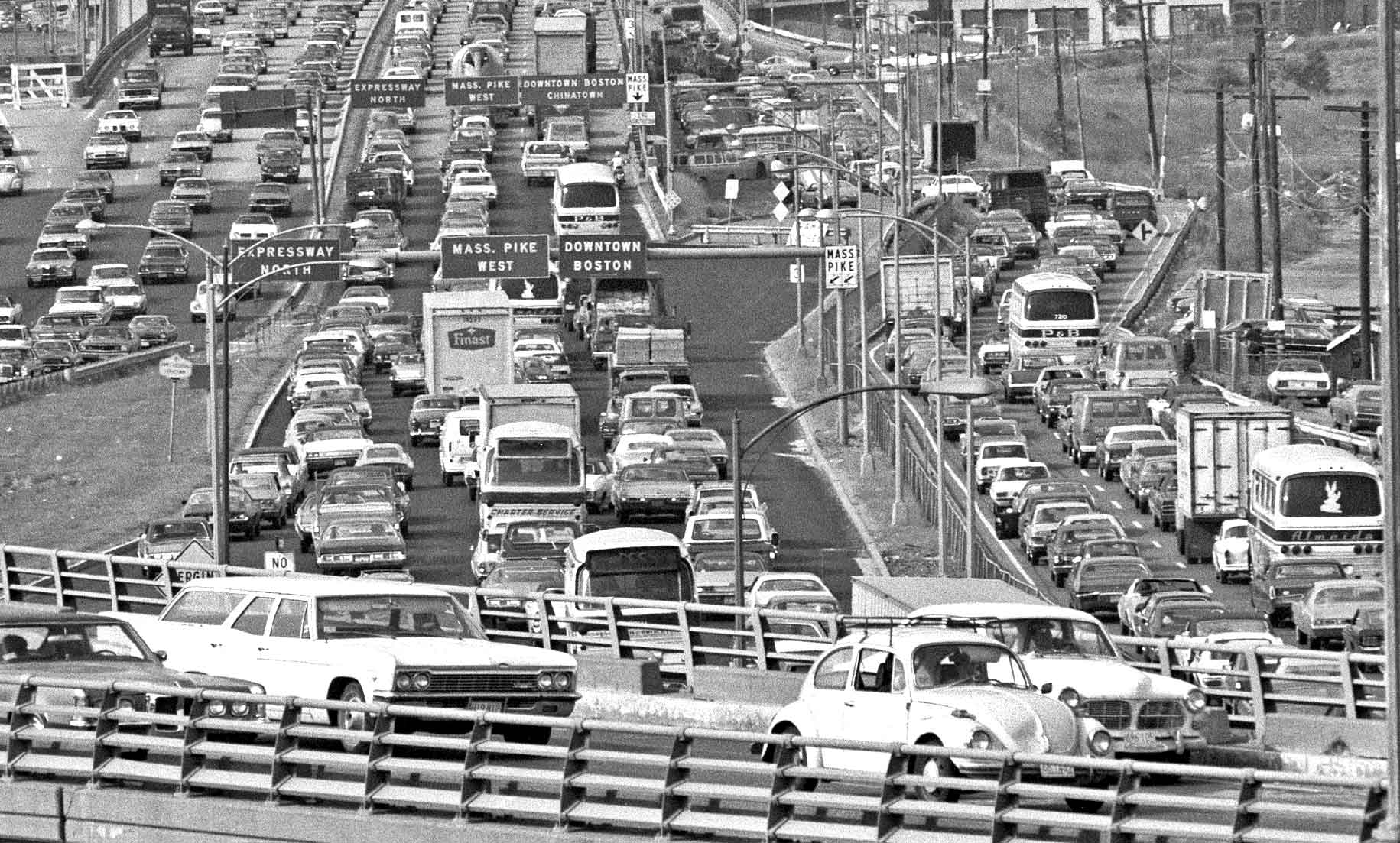 South Boston: Traffic Jam on the Southeast Expressway | The