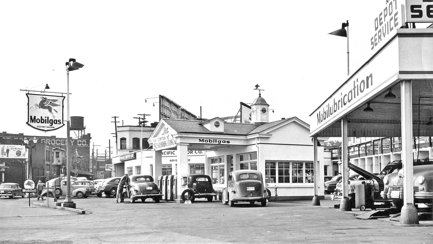 Gas Station Series: Three 1940s and 1950s Facilities in