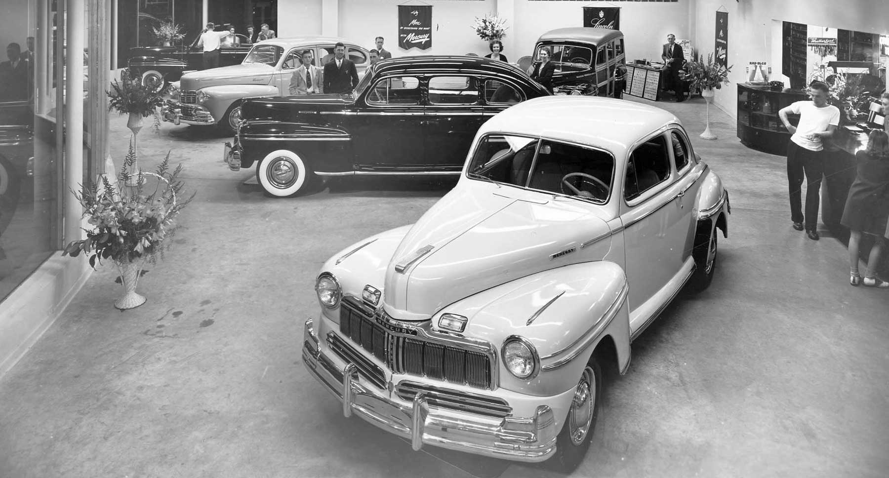 Puyallup Motor Company Rare 1947 Lincoln Mercury New Car Views 1941 Flathead Engine Share With Us What You Find Of Interest In These Photographs By The Richards Studio Courtesy Tacoma Public Library