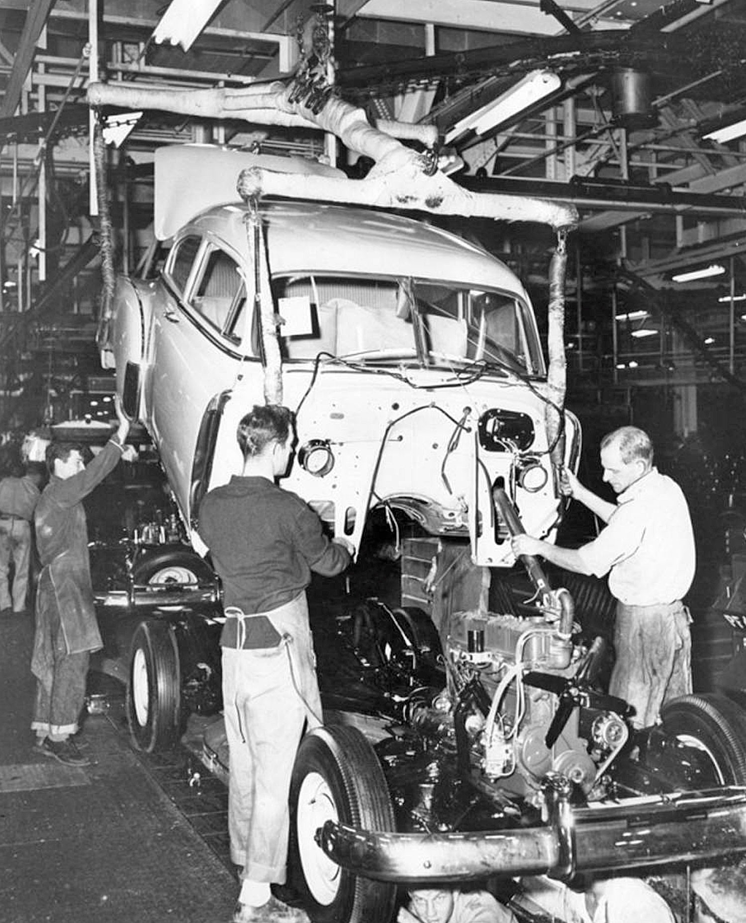 Assembly Line At The Chevrolet Plant Van Nuys, California