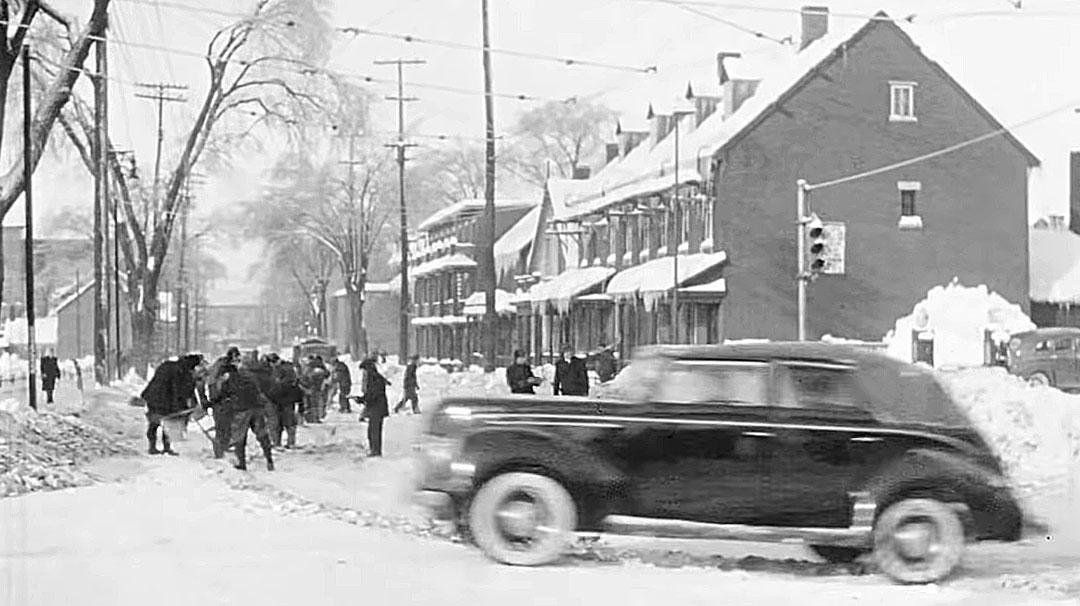 ottawa  canada 1942  u2013 winter ice storm street scenes